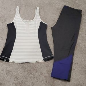 Lululemon tank + Joe Fresh pants